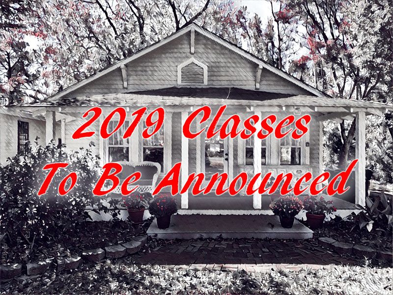 2019 Needlepoint and Knitting Classes to be Announced